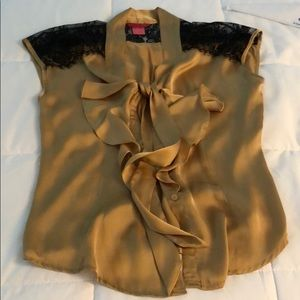 Gold blouse